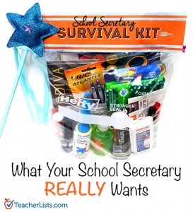 TL School Secretary Survival Kit Pinterest 600x660                                                                                                                                                     More