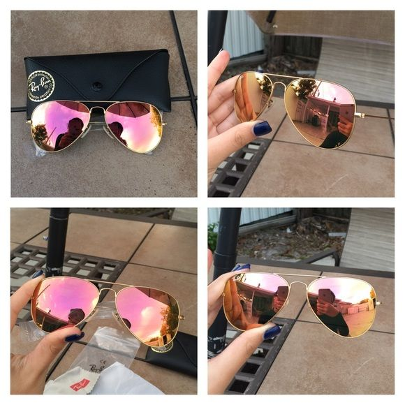 Authentic Brand new Rayban aviator Price is Firm Brand new Rayban aviator copper flash with gold frame. RB 3025 aviator large metal 109/Z2 58-14 2N. Standard size Medium Case and Cloth includedAuthentic ❌No scratches❌ Pictures are proof of authenticityWhat you see in the picture is exactly what yourre going to receiveIf youre not sure of what youre buying make your own research. Ray-Ban Accessories Sunglasses