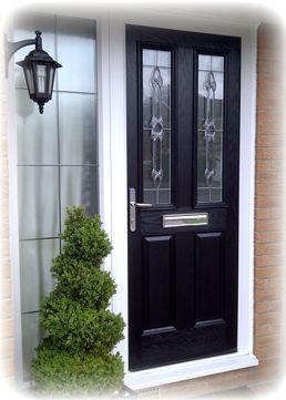 lovely black pvc door