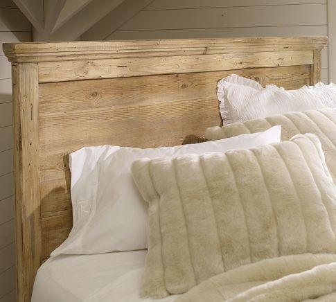 Mason Reclaimed Wood Headboard & Dresser Set - Wax Pine finish | Pottery Barn