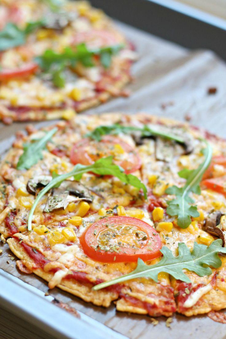 Pizza med kikertbunn.