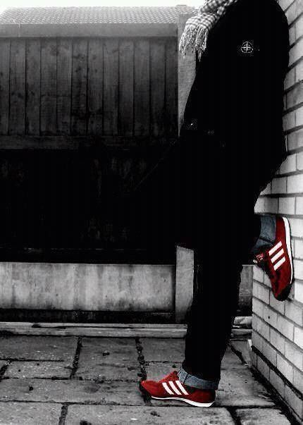 Going to the match. With Stone Island and Adidas.