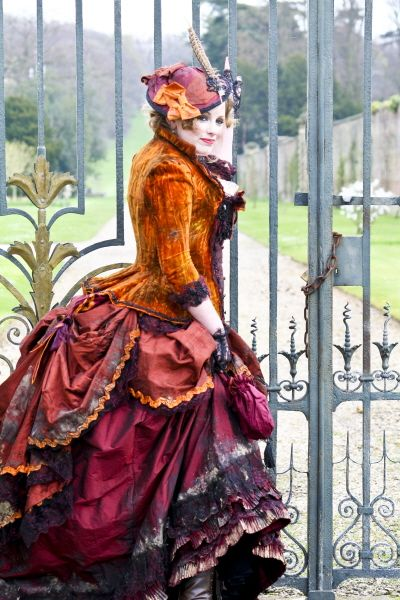 Distressed 1880s Victorian prostitute costume by Sally Anne Costume.