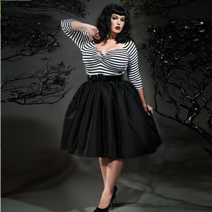 Plus Rozmiar Krótki Moda Kobiety Party Spódnice 2016 Custom Made Czarny Kolano Długość Suknia Balowa Spódnice Dla Puszystych Kobiet(China (Mainland))