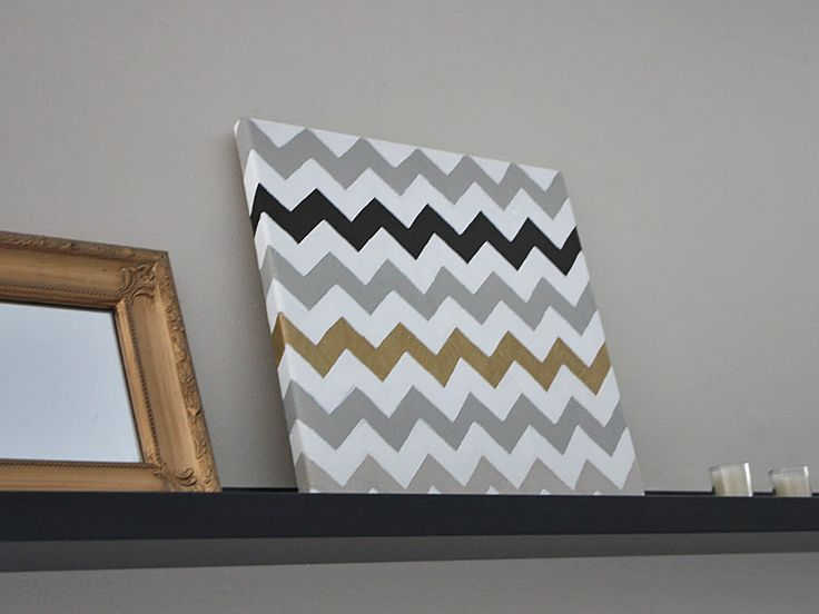 How to Paint Chevron Stripes • Lots of Tips  Tutorials! Including this diy chevron painted canvas project from 'simple kind of life'.