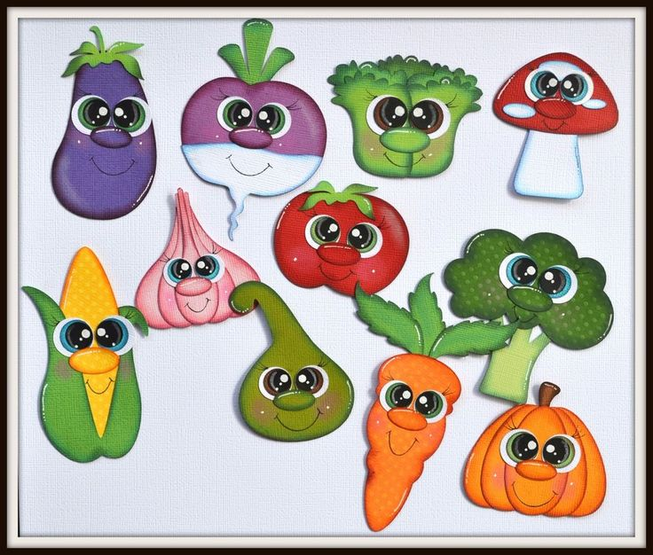 Elite4u Shoppies Veggies for Premade Scrapbook Page Layout Food Vegetables