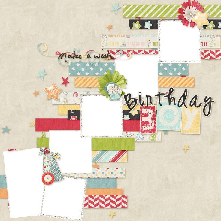 FREE Dreamn4ever Designs: BOY Birthday Wishes by Sheila Reid
