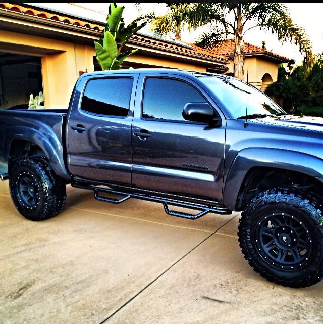 2016 Toyota Tacoma Double Cab Suspension: 2011 Lifted Toyota Tacoma Tinted Tail Lights No Mud Flap