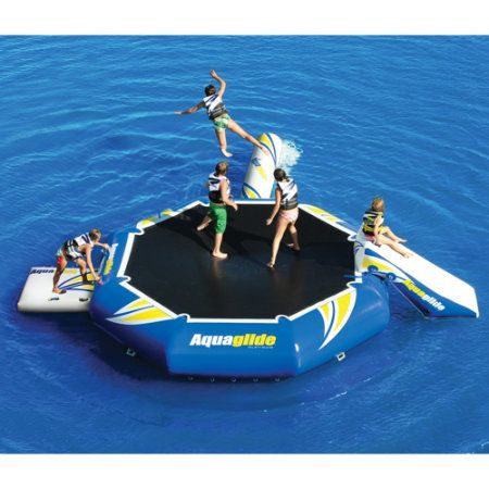 I would forgo a cottage at the lake for a launch spot and one of these. Gander Mountain® > Aquaglide Platinum Rebound Aquapark 12 Bouncer Set - Boating >  Lake