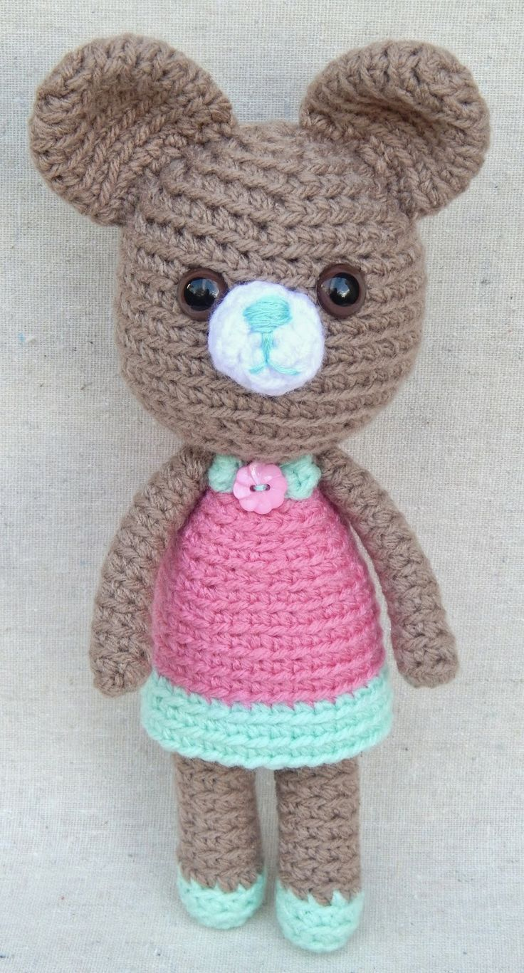New #Handmade #Giveaway, a darling #amigurumi #bear from @MsBittyKnacks on @Etsy - drawing will be April 24, 2014! #toy