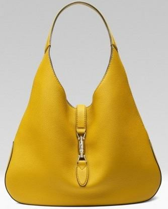 Gucci handbags 2015 hobo bag yellow catalog autumn winter 2014