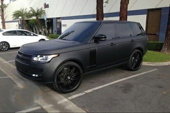 Matte Black On Black Range Rover