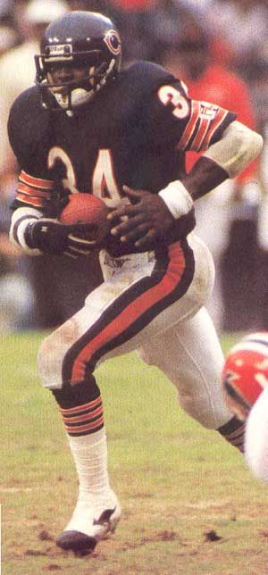 "Walter Payton (1954 - 1999) Hall of Fame Professional Football Player. For thirteen seasons (1975 to 1987), he played at the running back position in the National Football League with the Chicago Bears. Nicknamed ""Sweetness"", he was one of the greatest running backs in NFL history. #NFLFootball"