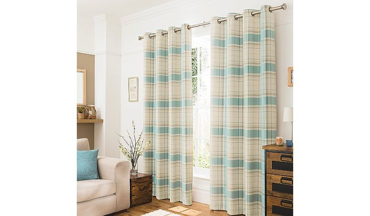 George Home Duck Egg Blue Woven Check Curtains, read reviews and buy online at George at ASDA. Shop from our latest range in Home & Garden. Ideal for adding ...