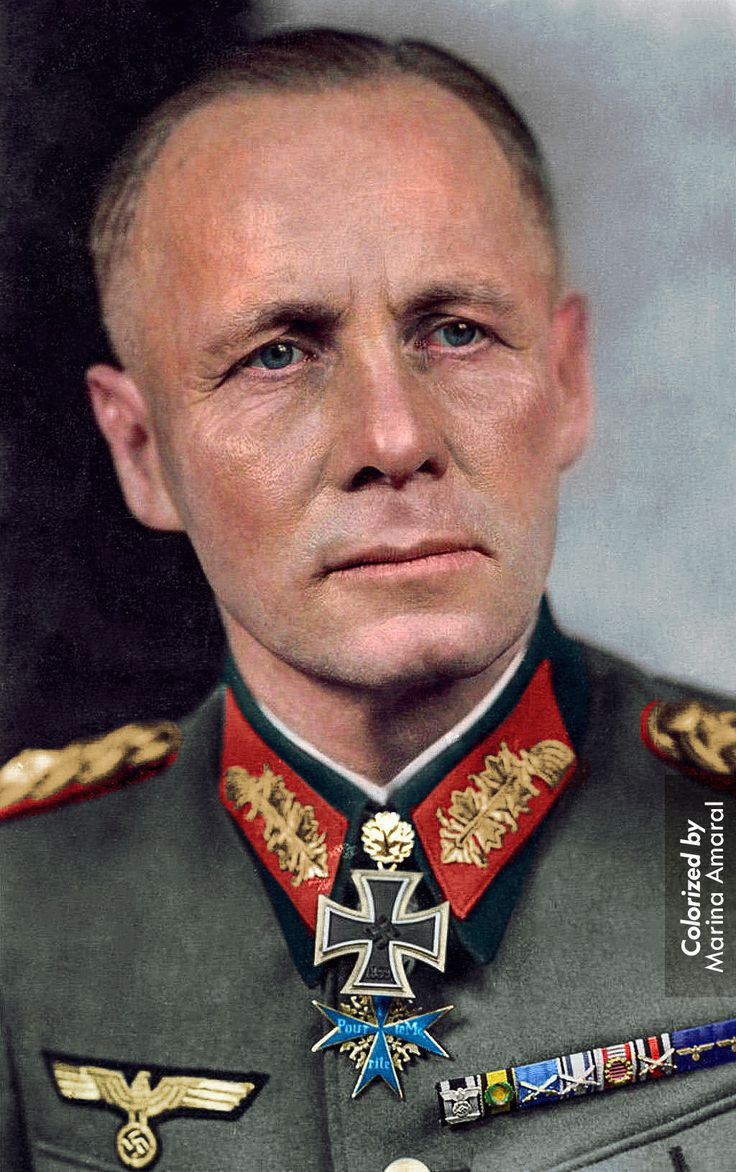 """ Color by me: German World War II Field Marshal Erwin Rommel """