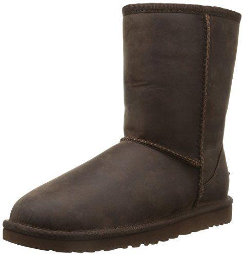 UGG UGG W Classic Short Leather, Damen Halbschaft Schlupfstiefel, Braun  (BWST),. Kids Ugg BootsSnow ...