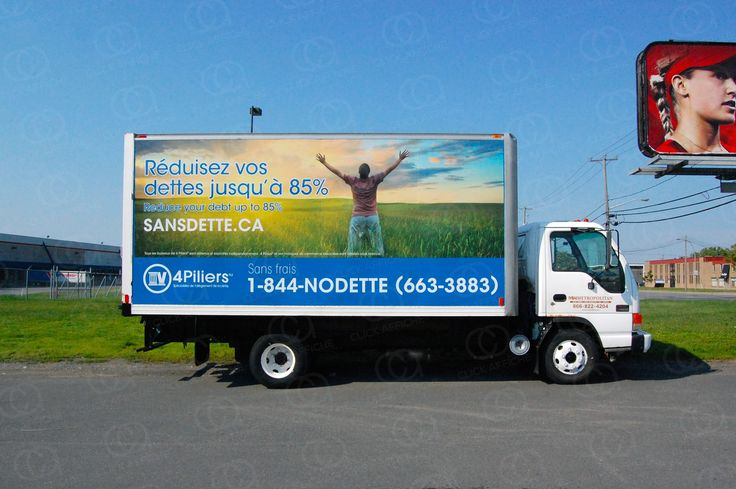 Truck wrap designed, printed and installed for 4 Pillars Consulting group (Montreal office)