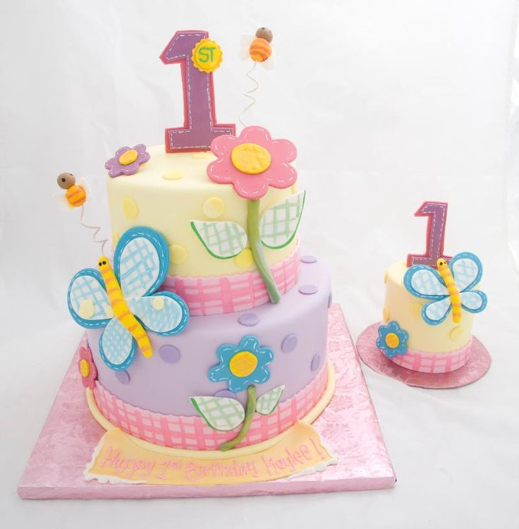 The 25 best Baby girl birthday cake ideas on Pinterest Baby
