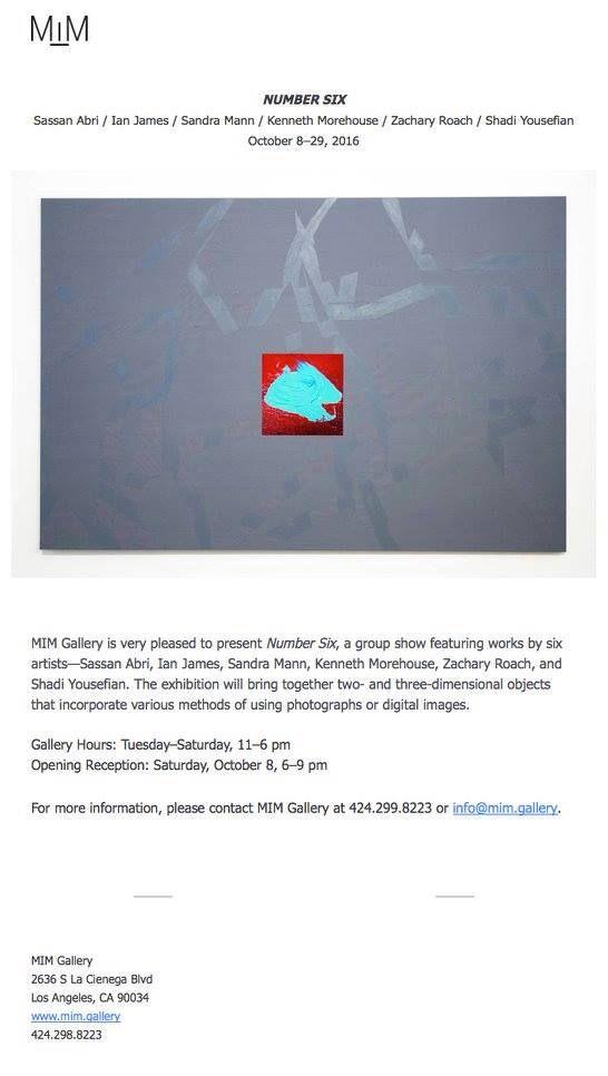 Ich freue mich sehr neue Arbeiten zum Thema Fotoskulptur zu präsentieren in der MIM Gallery LosAngeles: I´pleased to present new pieces regarding the topic of photo sculpture at MIM Gallery Los Angeles: http://mim.gallery/#6 #art #artist #photography #instalation #exhibition #sandramann #sandra_mann #photosculpture #sculpture  #mimgallery #losangeles  #sassanabri #ianjames #kennethmorehouse #zacharyroach #shadiyousefian #shivaaliabadi #majidakhatibi #cimarahmankah #thanks