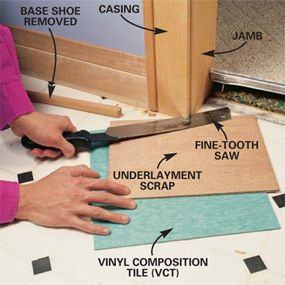 How to lay a Vinyl composition tile floor.