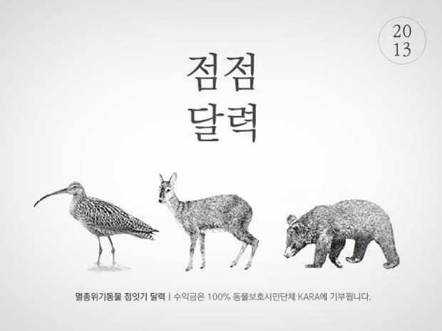 -점점 달력- 2013 멸종위기동물 점잇기 달력 :: 텀블벅