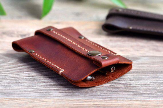 Personalized leather key holder men Handmade distressed leather key ... 95b678591