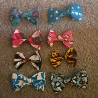 Duck tape bows =D