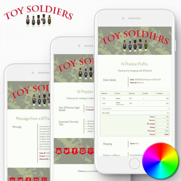TOY SOLDIERS PrestaShop Email Templates