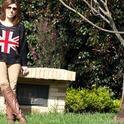 bandera inglesa  , urueña en Botas, Nine West en Gafas / Gafas de sol, zara en Pantalones, Free People en Jerseys