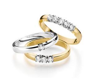 Geel-en witgouden ringen met briljant