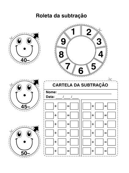 ESPAÇO EDUCAR: Jogos: Roleta da adição e roleta da subtração