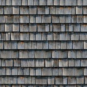 Textures Texture seamless | Wood shingle roof texture seamless 03779 | Textures - ARCHITECTURE - ROOFINGS - Shingles wood | Sketchuptexture