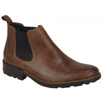 Rieker Mens 36082-25 Brown Chelsea Boots - Marshall Shoes