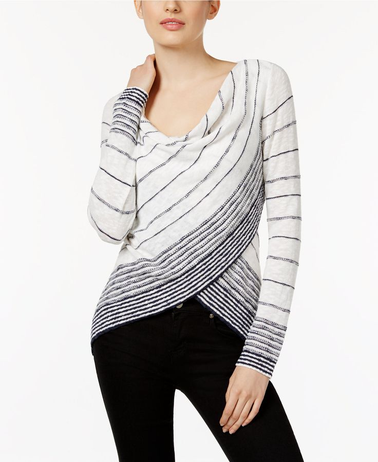 INC International Concepts Striped Crossover Top, Only at Macy's - INC International Concepts - Women - Macy's