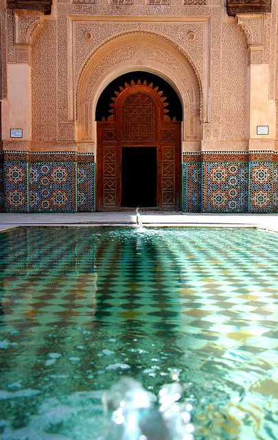 poolIndoor Pools, Islamic Architecture, Marrakech Morocco, Hearst Castles, Moroccan Style, Islam Architecture, Places, Dreams Pools, Moroccan Decor