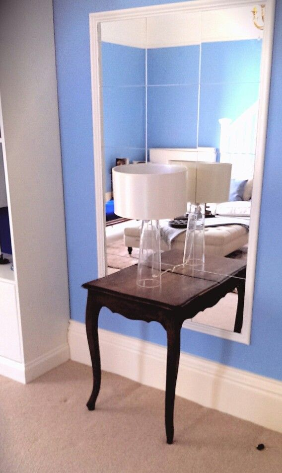 Mirror Table Made By Me For U0027the Great Interior Design Challengeu0027  Www.mancavecreations
