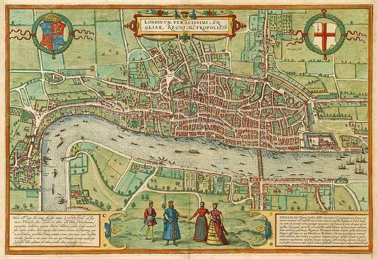 17th Century map of London