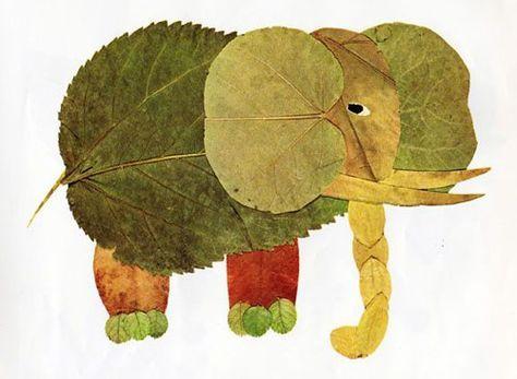 Come creare un elefante con le foglie autunnali