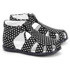 Roczki - Granatowe Skórzane Sandały Dziecięce - E 2378-2