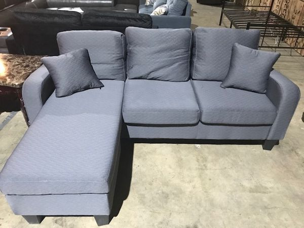 1681 Grey Mini Sectional Discount Furniture Furniture Grey