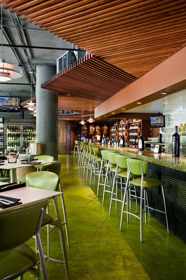 Modern restaurant bar in los angeles california
