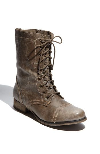 Steve Madden 'Troopa' Boot available at #Nordstrom $115 love this stone brown colour, have to get it as soon as it's back in stock