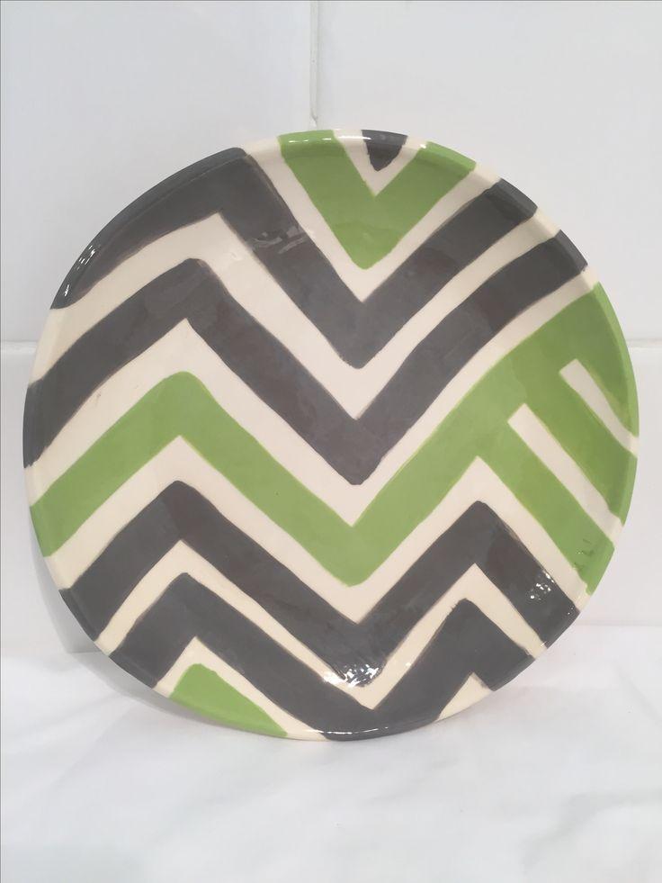 Handmade pottery plate