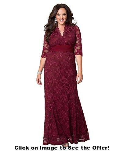 Kiyonna Women's Screen Siren Lace Gown