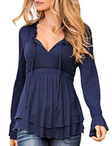 CRAVOG Sexy Women Lace up Empire Waist Tops Long Sleeve S... https://www.amazon.co.uk/dp/B01LB41VB0/ref=cm_sw_r_pi_dp_x_exVhybV170ZEC