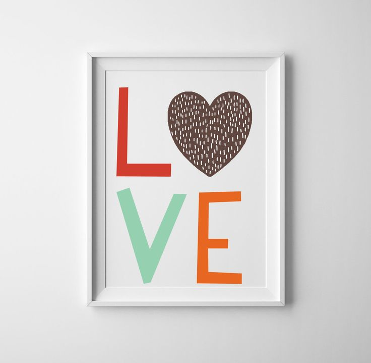 A personal favorite from my Etsy shop https://www.etsy.com/listing/263082921/love-typography-art-print-in-gender