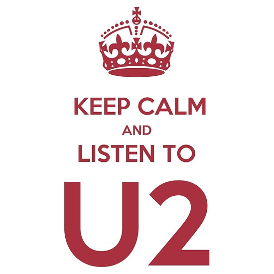 $20 KEEP CALM AND LISTEN TO U2 T-SHIRT DESIGN BY KARMADESIGNER ON REDBUBBLE