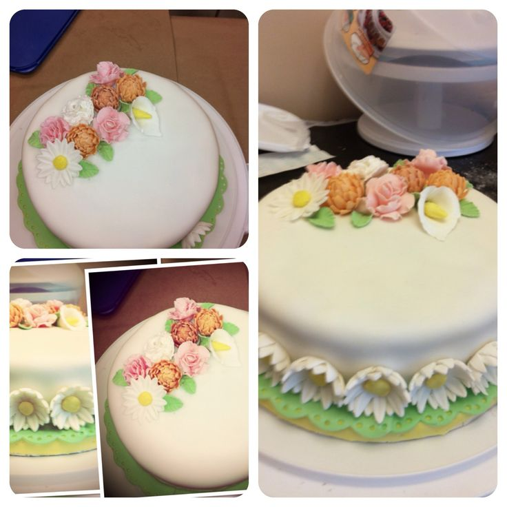 Final Exam Cake I made in the Wilton Course 3 Gum Paste ...