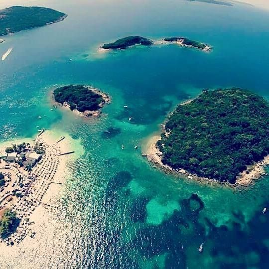 The Ksamil Islands (Albanian: I) are four small islands located in southern #ALBANIA.<3