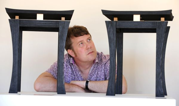 Google Image Result for http://www.simonthomaspirie.co.uk/blog/wp-content/uploads/2012/06/Furniture-maker-Simon-Thomas-Pirie-with-the-Torii-Tables-he-made-in-memory-of-his-brother.jpg
